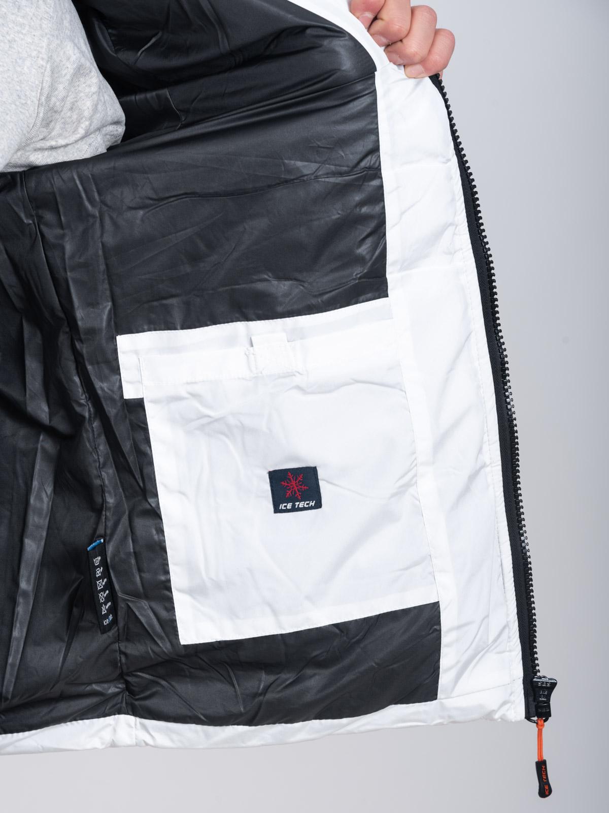 ICETECH G837 WHITE-BLACK - ΑΝΡΙΚΟ ΤΖΑΚΕΤ ΛΕΥΚΟ-ΜΑΥΡΟ